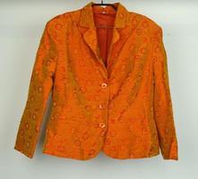 0W228 Narancs hímzett gyöngyös női blézer