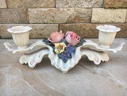 Antik ENS porcelán gyertyatartó