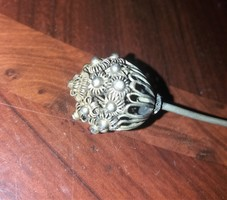 Antik Ezüst cizellált horgolótű kötőtű