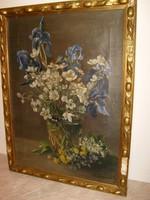 Otto galériás Német festő olaj-vászon 65 X 48 cm- számlával eladó