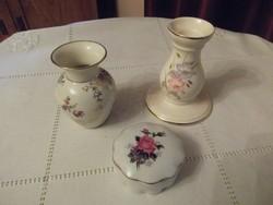 3 db jelzett angol porcelán dísztárgy!