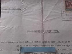 A trianoni békeszerződés rendelkezései szerint  Állampolgársági Bizonyítvány  1925.