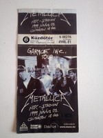 Rockrelikvia! Metallica jegy 1999 Mtk-Stadion