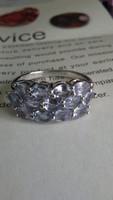 Tanzanit 925 gyűrű (54)