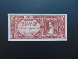100000 B.- pengő 1946 Szép ropogós bankjegy  01