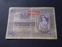 10000 Korona 1918 Felülbélyegzéssel, hátlap ornament