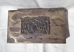 Képcsarnokos iparművészeti kártyatartó doboz