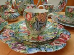 Kézi festésű! Antik Ritka! 6 szem.Royal Limoges Eden d'après Sonate PAULE MARROT teás/ kávés/sütis