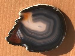 Achát bross, kitűző, 6 x 4,5 cm