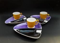Hollóházi cigi-kávé munkaszünet szett - hamutartó és kávéscsésze alátét egyben