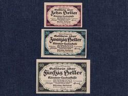 3 db osztrák szükségpénz 1920 (id7411)