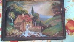 Szép kis festmény 1937-ből Nagy Károly