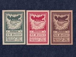 3 db osztrák szükségpénz 1920 (id7392)