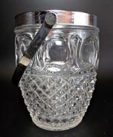 Vastag öntött üveg jégtartó fém peremmel