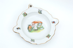 Epiag mesejelenetes étel melegentartó tányér - gyerek tányér: madárdoktor manódoktor