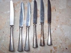 6db ezüst nyeles solingen kés eladó