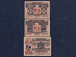 3 db osztrák szükségpénz 1920 (id7389)