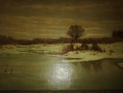 Festmeny ,Erdőssy Béla olaj vászon festmény
