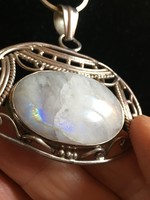 Nyakék-hatalmas HOLDköves medállal-ezüst-925-ös