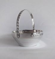 Argentor szecessziós ezüstözött kínáló/kosár. cca. 1904