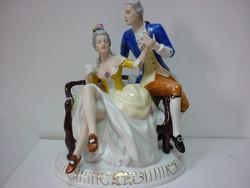 Royal Dux - nagy barokk pár