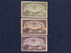 3 db osztrák szükségpénz 1920 (id7396)