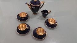 KHM Bavaria Echte Cobalt art-deco kávés készlet