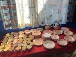 Hatalmas 152 db Pink Angol porcelánok