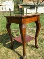 Szép intarziás neobarokk kis asztal / posztamens / virágtartó / éjjeliszekrény