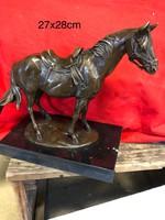Western quarter horse bronz ló