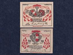 2 db osztrák szükségpénz 1920 (id7399)