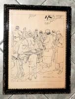 ZÓRÁD GÉZA TUSRAJZA  KERETES  /1925/