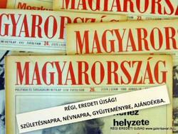 1988 április 1  /  MAGYARORSZÁG  /  SZÜLETÉSNAPRA RÉGI EREDETI ÚJSÁG Szs.:  5739