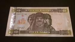Eritrea 50 Nakfa UNC bankjegy 2011
