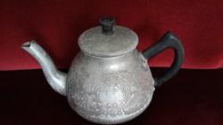 Régi, orosz, fém teáskanna