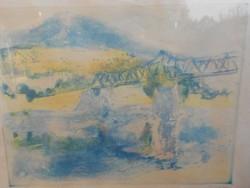 Jenő Elekfy (1895-1963) at the Danube Bridge.