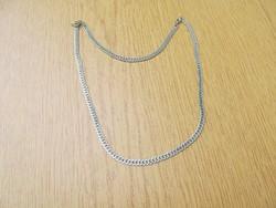 Nemesacél nyaklánc 2 db. kapoccsal, állítható hossz