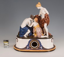 Borszéky Frigyes nagyméretű art deco stílusú kandallóóra