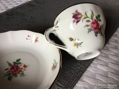 Antik porcelán teás csésze, alj, oscar schaller, vitrines