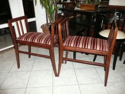 Két teljesen egyforma szecessziós, antik, szép, stabil etrüszk / szófa / ülőke eladó egyben