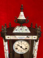 Zománcos asztali/kandalló óra
