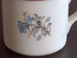 Hollóházi régi virágos nagyméretű, vastag falú, súlyos bögre