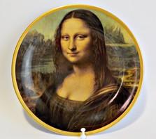Bavaria porcelán fali dísztányér - Mona Lisa