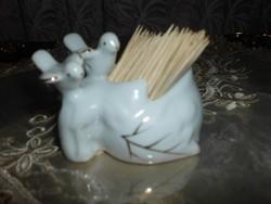 Madárkás porcelán fogvájótartó.