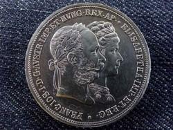 Ritka Ferenc József és Sissy ezüst házassági 2 Gulden 1879 (id7493)