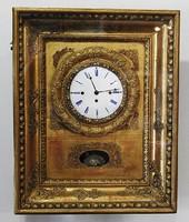 Biedermeier zenélő keret óra 1820 - 1860 - as évekből! Hibátlan! Eredeti Bécsi!