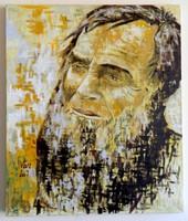 """Vári Zsolt """"Fényhozó"""" (1974 -) - Az öreg Szilveszter  (olaj, vászon; 2007)"""