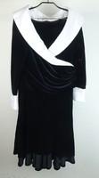 0W210 Joseph Ribkoff fekete bársony estélyi ruha