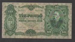 10 pengő 1929.  VF+!!  NAGYON SZÉP!!