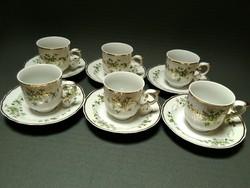 Hollóházi kávés csészék - Erika minta